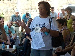 Jane Nascimento, one of the leaders of Vila Autódromo