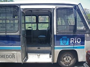A City bus for moving homeless to shelters