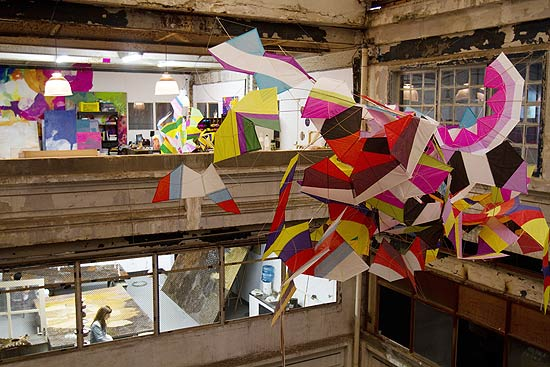 artists have taken over the former chocolate factory