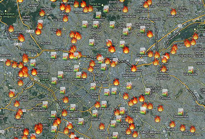 """Data from the study, along with the work of programmers, journalists, and designers, was used to create """"Fire in the Shack,"""" a collaborative platform with information about the fires"""