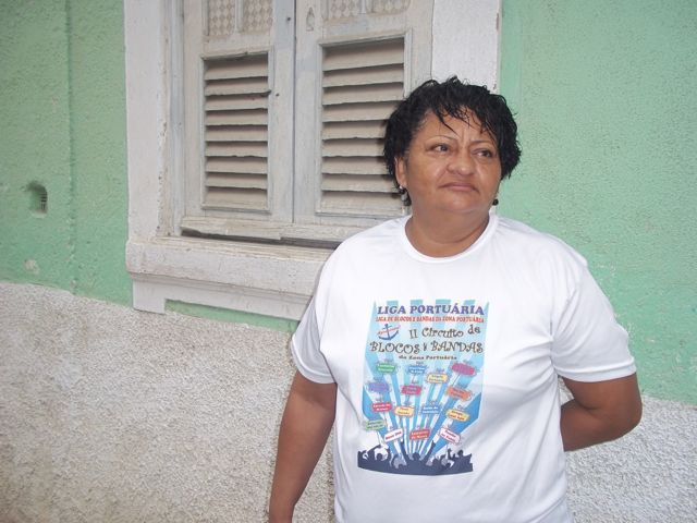 Rosiete Marinho, 50, Providência resident and president of the Port Zone League of Blocos & Bands