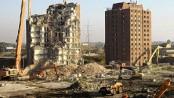 Tower blocks demolished in east London