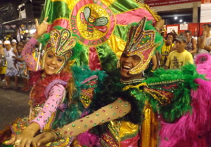 Dancers from the Favo de Acari samba school