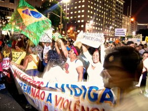 Vidigal protest