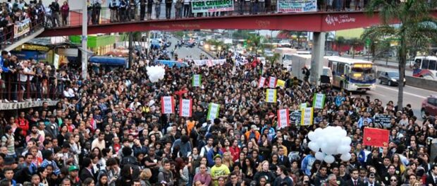 Over 5,000 people gathered for the memorial demonstration. Photo by Léo Melo / Imagens do Povo