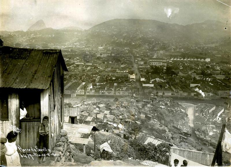 Late 19th Century photograph from Rio's first favela, Morro da Providência