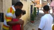 Bezerra and two boys