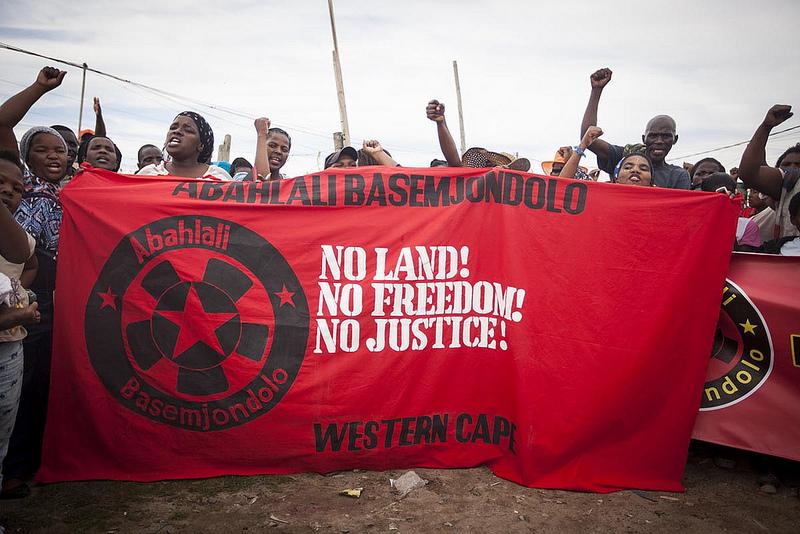 Abahlali baseMjondolo at UnFreedom Day in Cape Town 2013