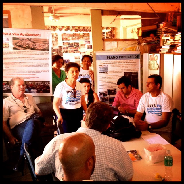 Planning discussions for the People's Plan in 2012