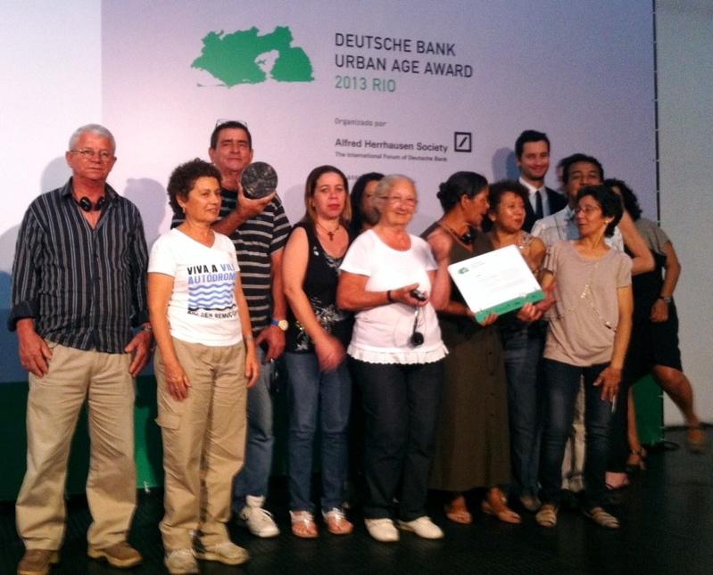 Vila Autódromo wins Urban Age Award
