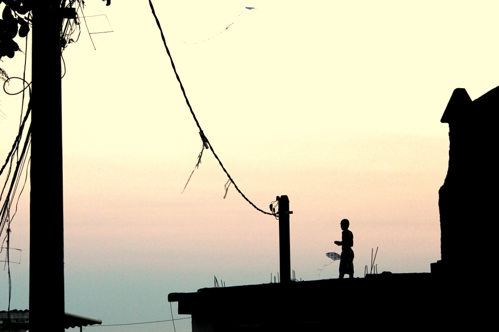 Kid with a Kite Photo by Patrick Isensee