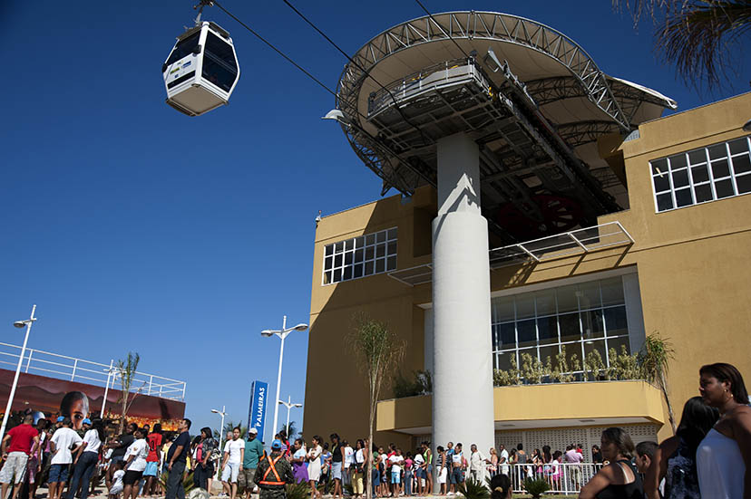 The cable car in Alemão. Photo by Rodrigues Moura