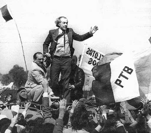 Socialist candidate Leonel Brizola became Rio state governor in 1982