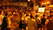 Vidigal's square packed out for the first Fala Vidigal