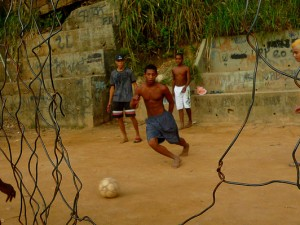 Football pitch in Rocinha