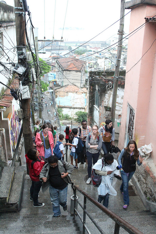 Journalists from the International Reporting Project in Providência