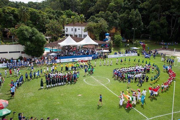 The opening ceremony of the Street Child Cup 2014 in Rio de Janeiro. Photo by Street Child World Cup