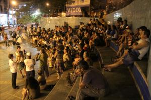 Attending crowd
