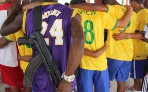 The drug trafficker soccer players of Vila Aliança have been widely reported on this week. Photo by Alan Lima/Al-Jazeera