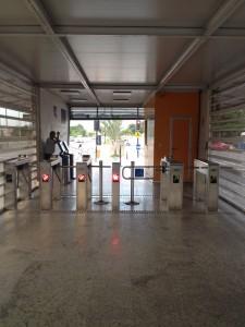 Inside BRT station