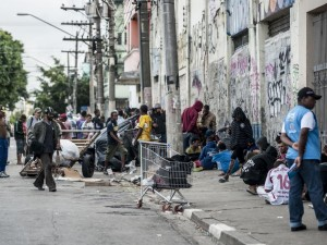 A cracolândia in São Paulo. Photo by Marcelo Camargo/ Agência Brasil