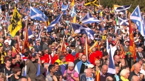 Rally for Scottish independence in March 2013