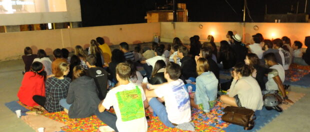 Film screening at Museu de Favela in Cantagalo