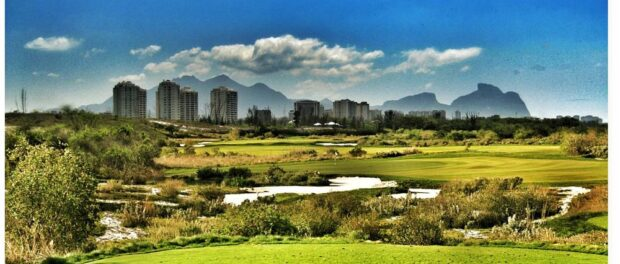 Promotional image of the projected golf course released by Rio 2016