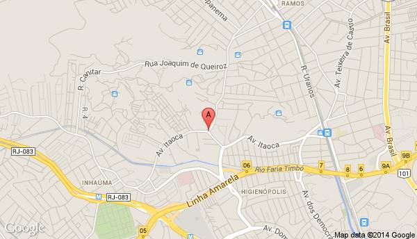 Av. Itaoca - occupied factory location