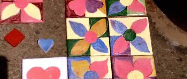 BoreArt has already received some tile donations. Photo courtesy of BoreArt