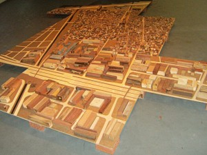 """Modelo Vivo,"" Pedro Évora's scale model and workshop project depicting Rio de Janeiro, starting from Complexo da Maré."