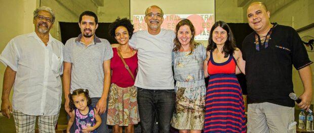 Left to right: Julio Tavares, Francisco Valdean, Thaís Rocha, José Barbosa, Rovena Rosa, Erika Tambke, Heraldo HB