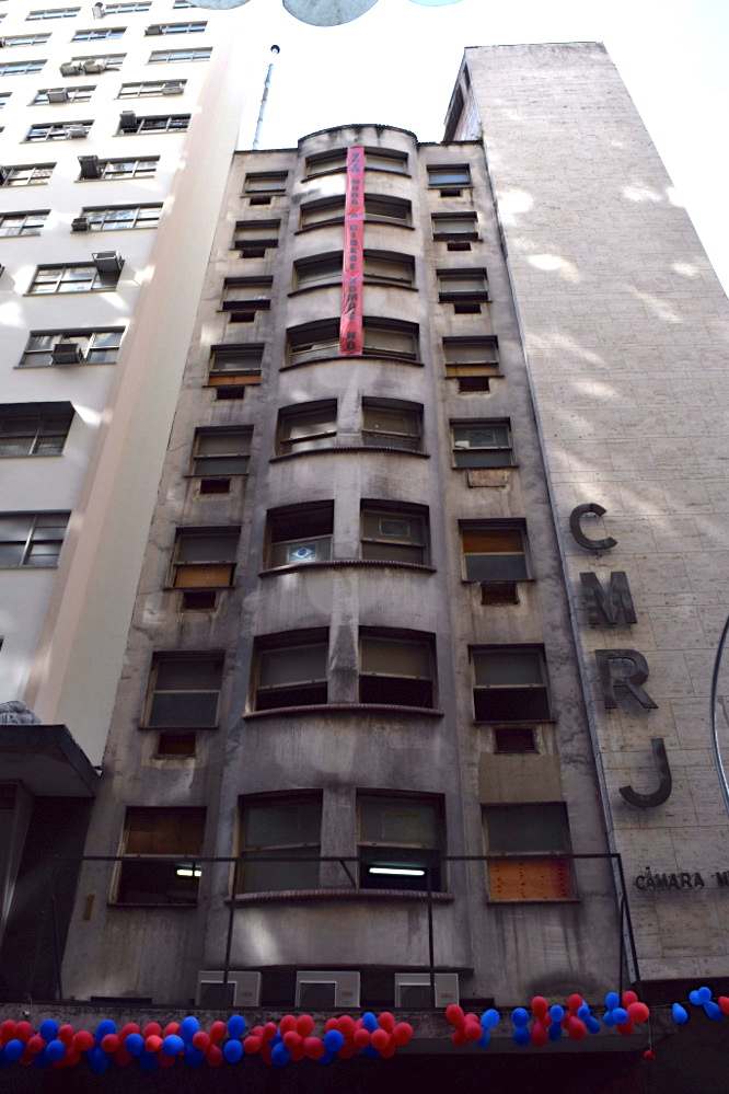 The Manoel Congo occupation building in Cinelândia, downtown Rio