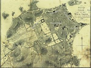 City of Rio de Janeiro and its districts plan  (1826).  Source: Arquivo Nacional IN: Planos Urbanos do Rio de Janeiro – XIX (2008).