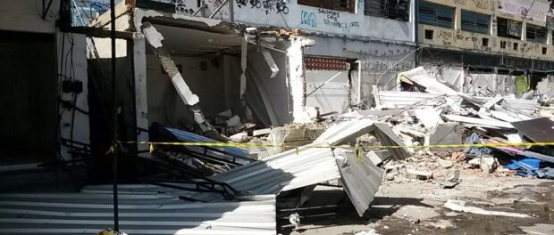 Tuffy shops demolished. Photo by Carlos Coutinho