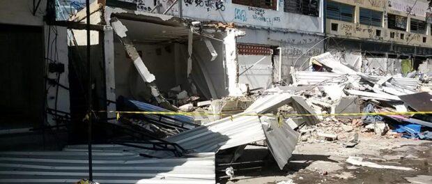 Tuffy shops demolished. Photo by Carlos Coutinho