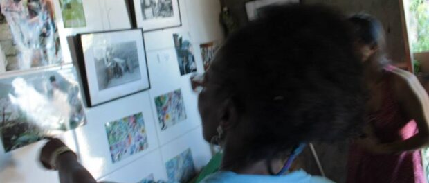 Photographic exhibition inside Nega Vilma Ecomuseum