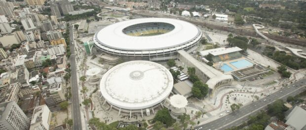 Aerial view of the Maracanã Stadium. Photo by Daniel Basil / ME / Portal da Copa