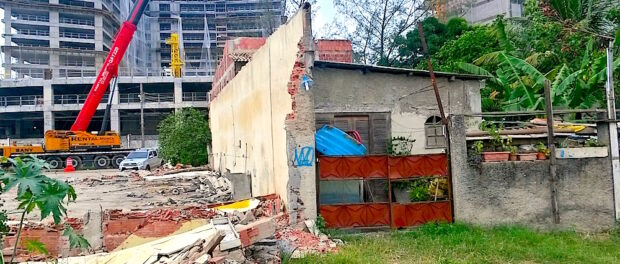 Jane Nascimento's house stands alone with demolitions next door