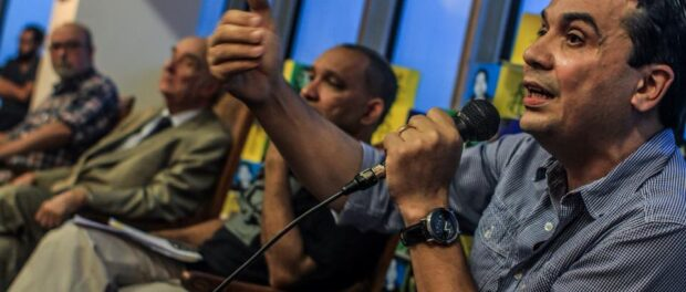 Edson Diniz, Director of Redes de Desenvolvimento da Maré, talks about police violence in Complexo da Maré.