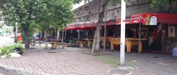 Richuelo Square's business hub sitting idle.