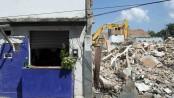 Destruction in Vila União de Curicica