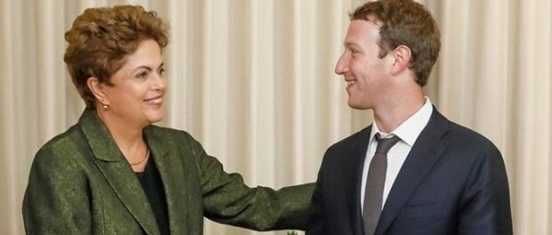 President Dilma Rousseff and Facebook founder Mark Zuckerberg. Photo from reprodução/Facebook
