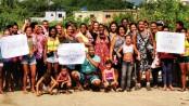 Residents of Favelinha da Skol