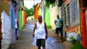 Happy favela residents