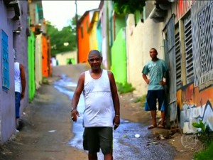 Happy favela residents