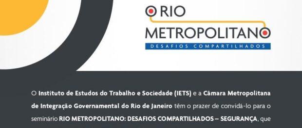 Rio Metropolitano seminar series. Image from IETS.