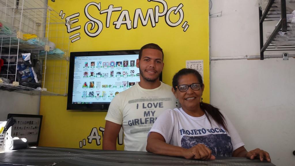 Francisco Rocha and his mother Jandira.