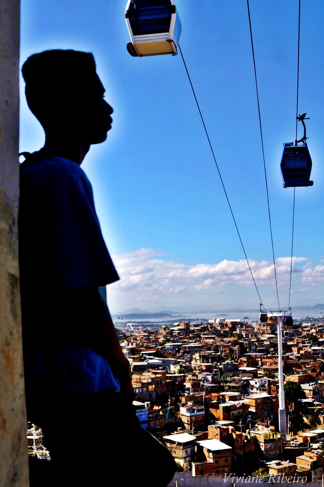 Marcelo under the cable car