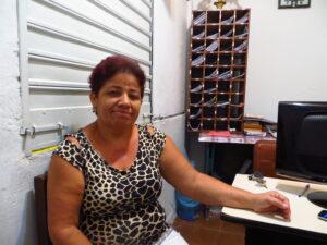 Maria do Socorro, newly elected President of Indiana's Residents' Association